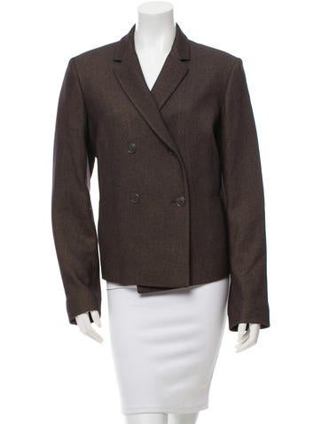 Jil Sander Cashmere Double-Breasted Blazer None