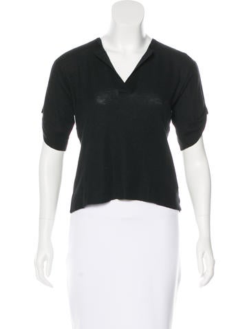 Jil Sander Cashmere Short Sleeve Top None