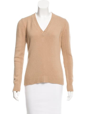 Jil Sander Knit V-Neck Sweater None