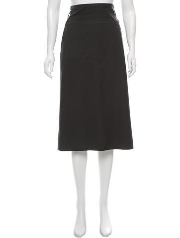 Jil Sander Wool Midi Skirt