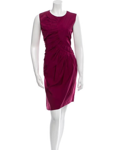 Jil Sander Sleeveless Pleated Dress None