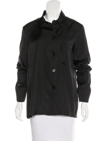 Jil Sander Silk Button-Up Top