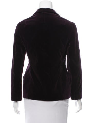 Velvet Long Sleeve Blazer