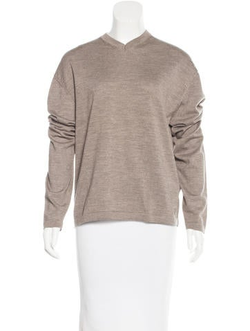 Jil Sander Wool V-Neck Sweater None