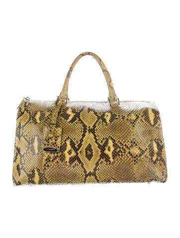 Jil Sander Large Snakeskin Jil Bag None
