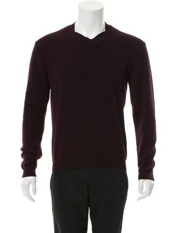 Jil Sander Rib Knit-Trimmed V-Neck Sweater None
