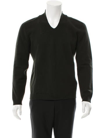 Jil Sander Virgin Wool V-Neck Sweater None