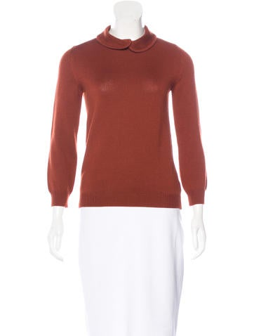 Jil Sander Wool Three-Quarter Sleeve Sweater None