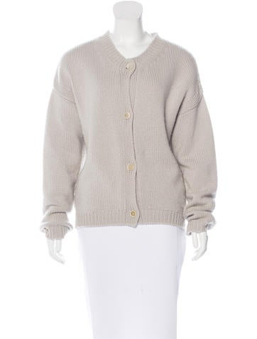 Jil Sander Cashmere Button-Up Cardigan None