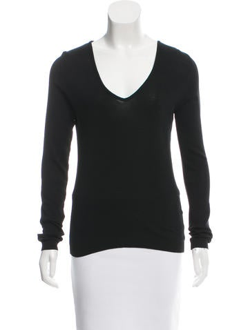 Jil Sander Rib Knit Long Sleeve Top None