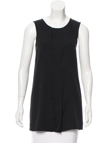 Jil Sander Silk Sleeveless Top None