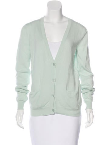 Jil Sander Knit V-Neck Cardigan None