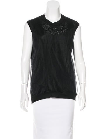 Jil Sander Wool Embellished Top w/ Tags None