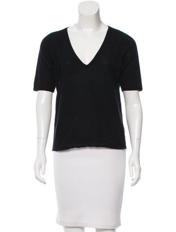 Jil Sander V-Neck Short Sleeve Top None