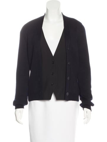 Jil Sander Knit Button-Up Cardigan None