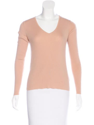 Jil Sander Cashmere-Blend Rib Knit Sweater None