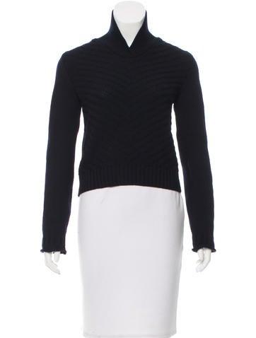 Jil Sander Chevron Pattern Cropped Sweater None