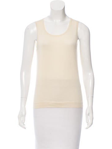 Jil Sander Sleeveless Scoop Neck Sweater None