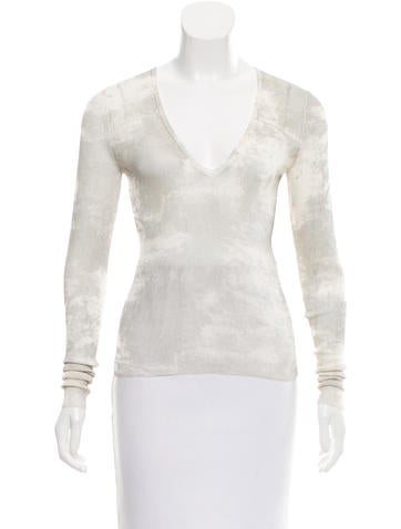 Jil Sander Distressed Silk Top None