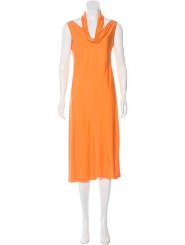 Jil sander silk jersey knit dress dresses jil35277 for Jersey knit wedding dress