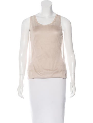 Jil Sander Silk & Cashmere Sleeveless Top None