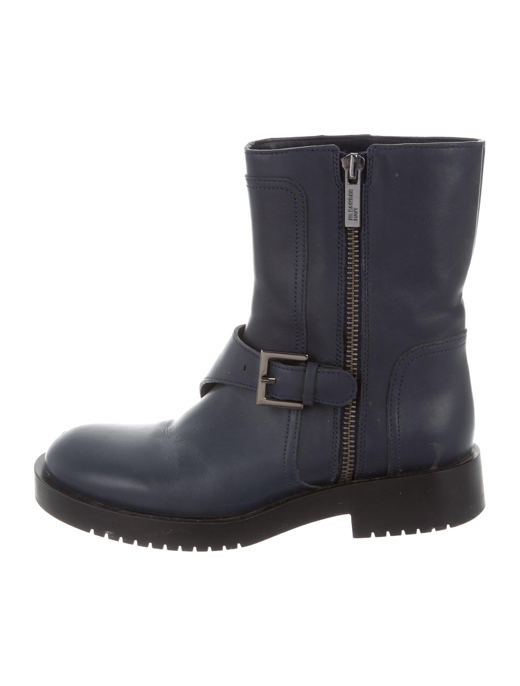 jil sander leather moto ankle boots shoes jil35358
