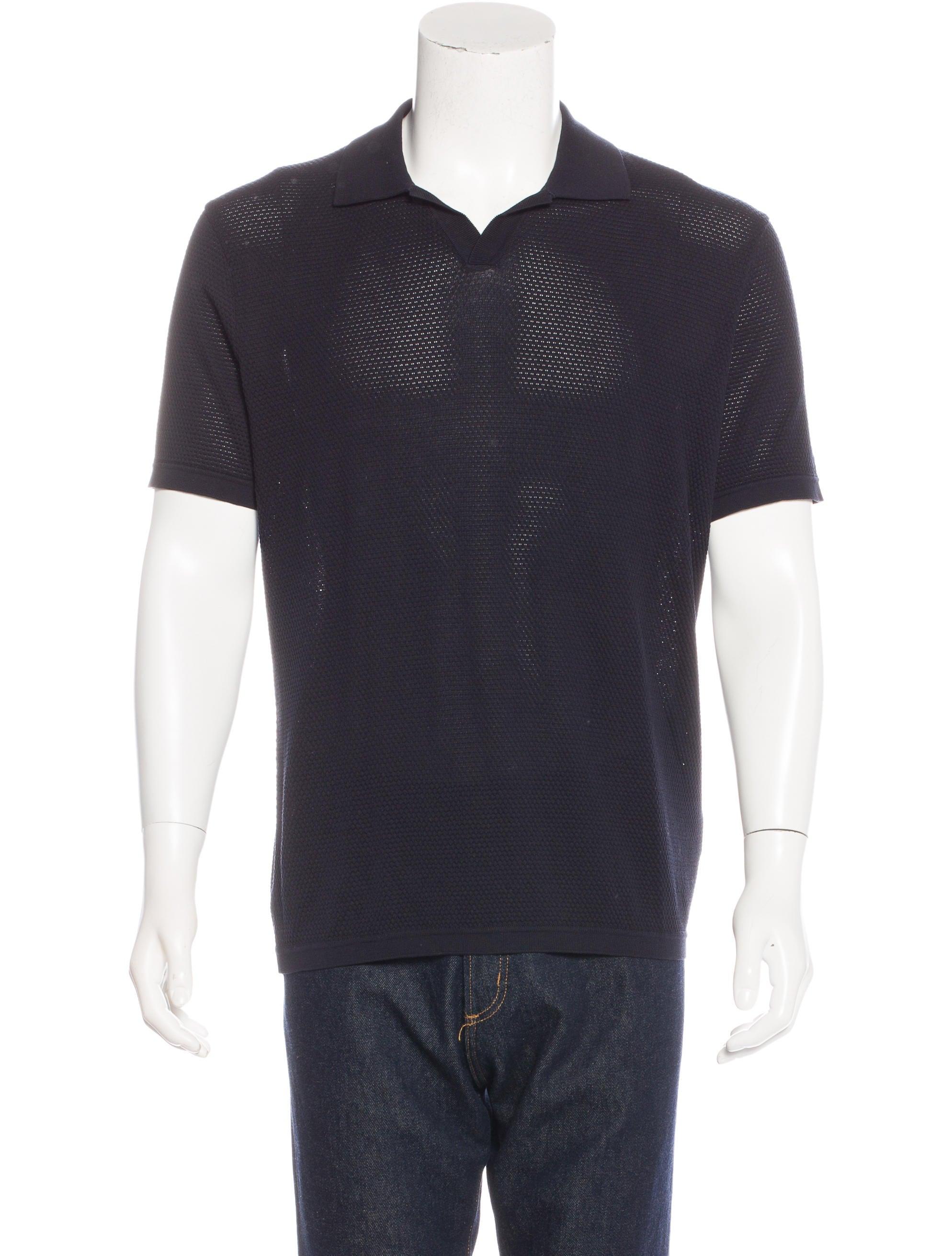 Jil sander jacquard woven polo mens shirts jil35526 for Jil sander mens shirt