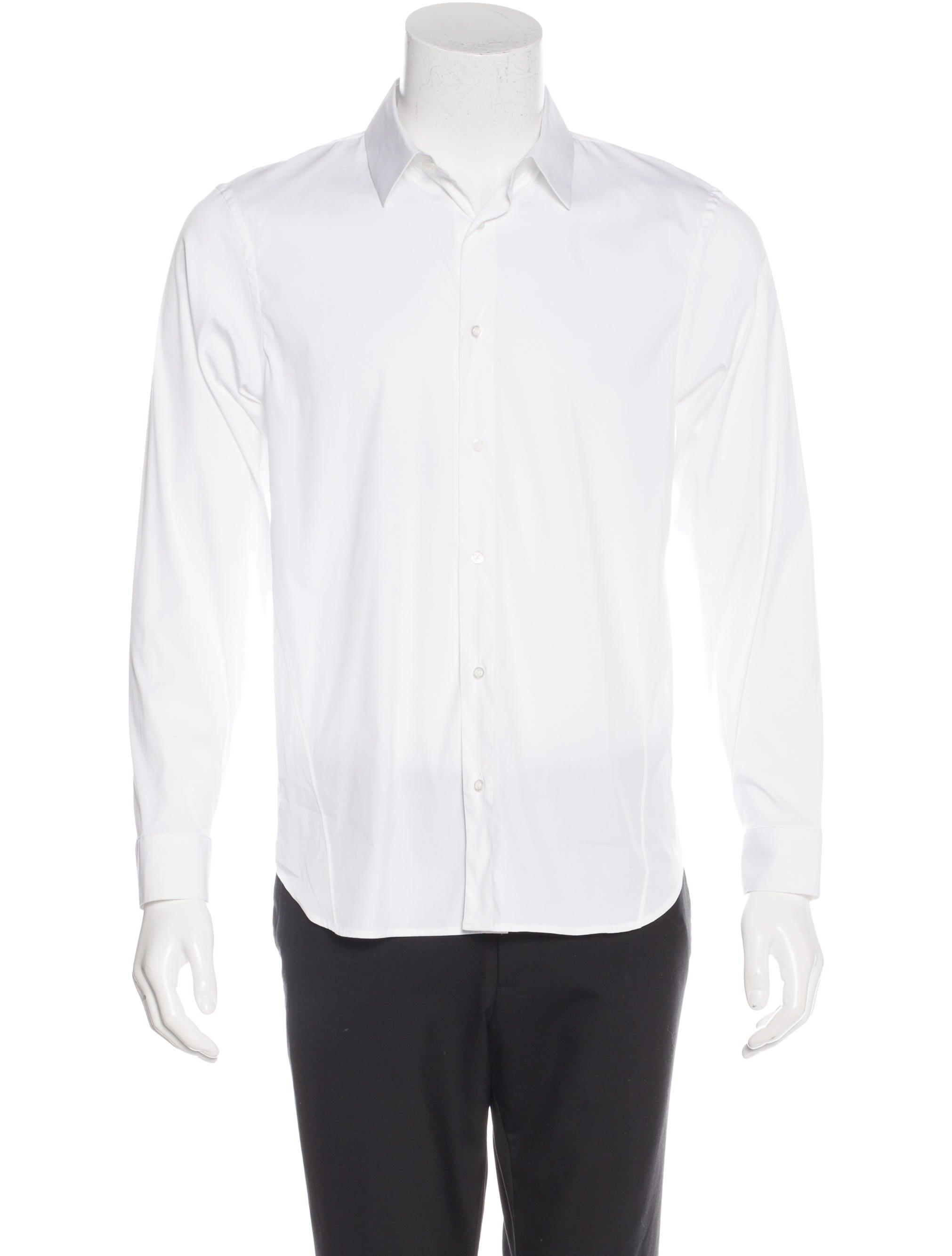 Jil sander woven dress shirt mens shirts jil35557 for Jil sander mens shirt