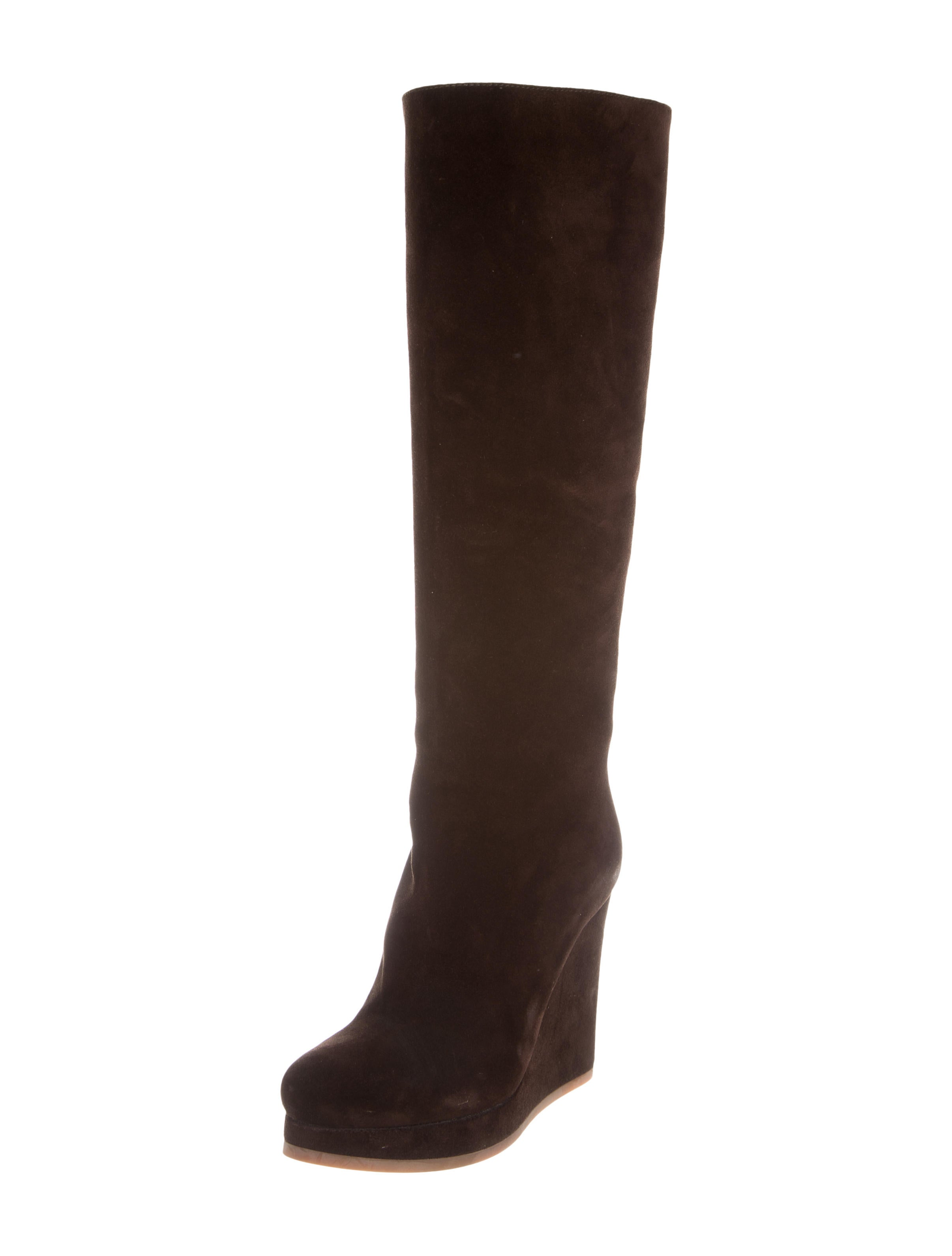 jil sander wedge knee high boots shoes jil35619 the