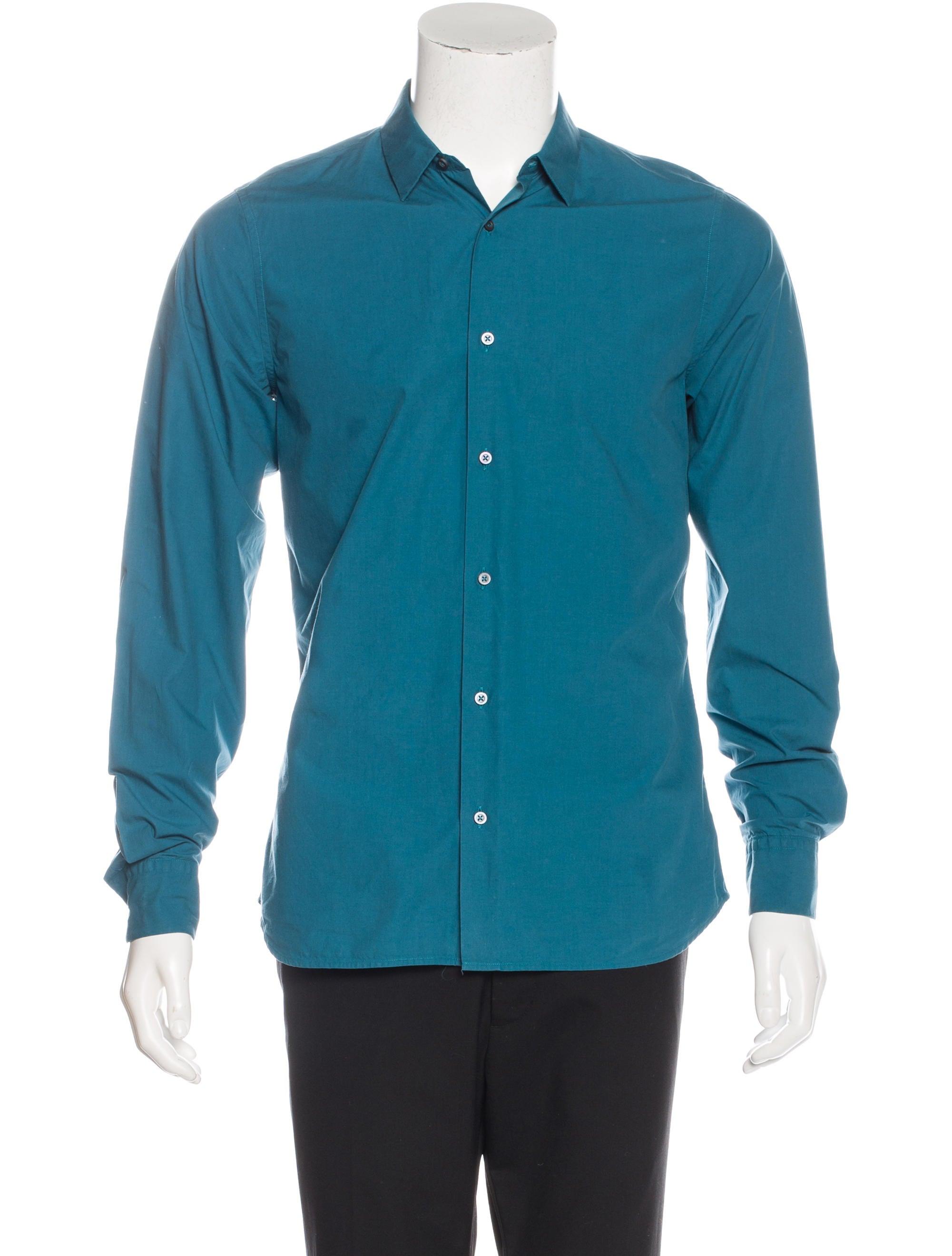 Jil sander woven dress shirt clothing jil35639 the for Jil sander mens shirt