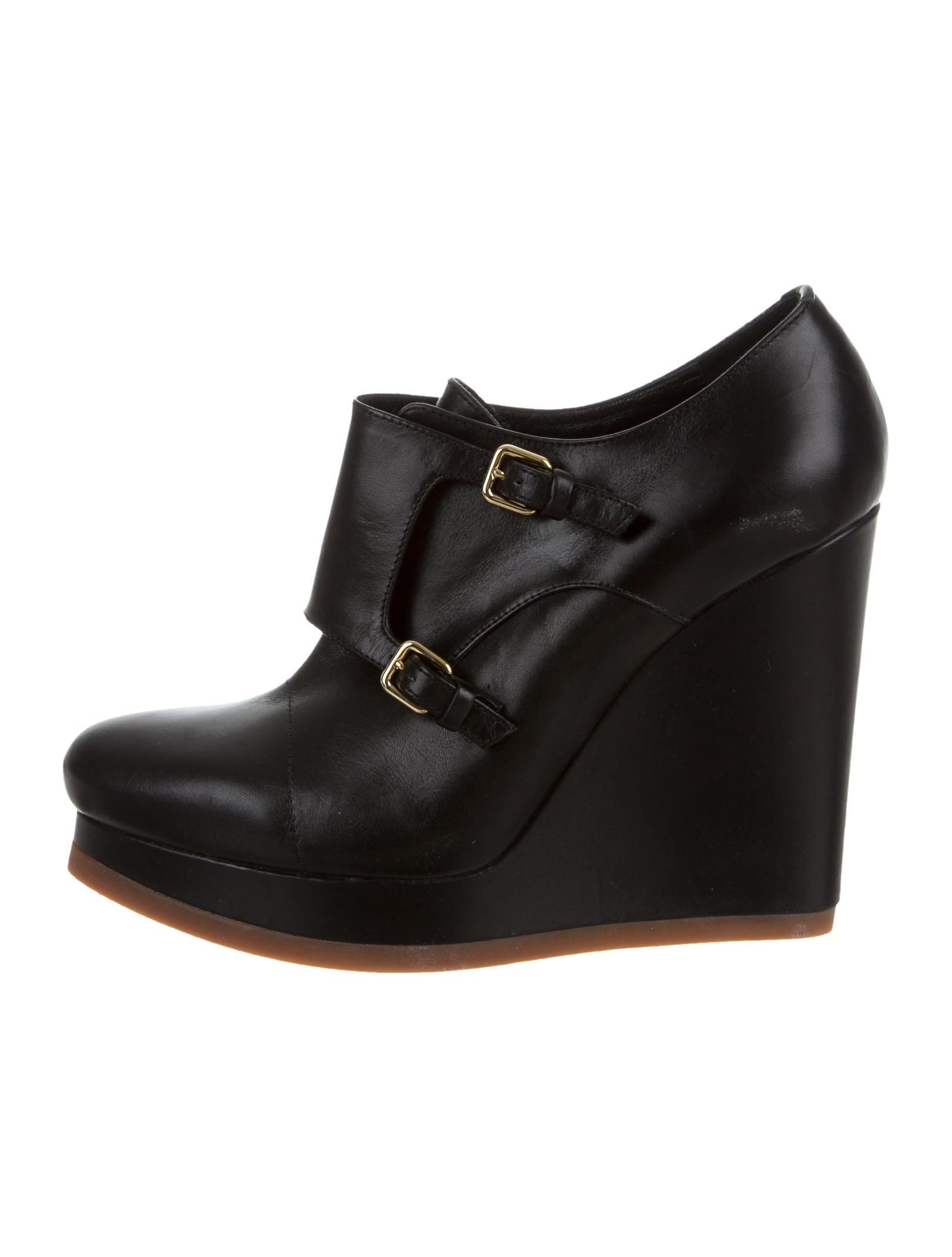 jil sander leather wedge ankle boots shoes jil35934