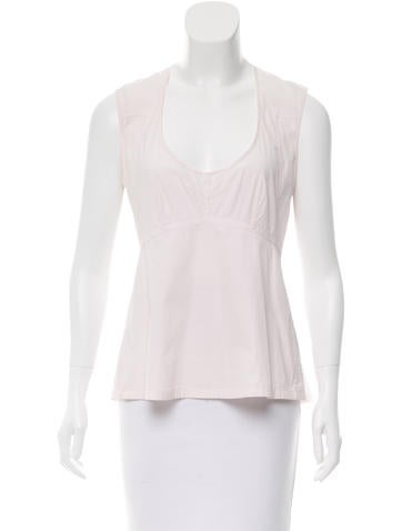 Jil Sander Sleeveless Scoop Neck Top None