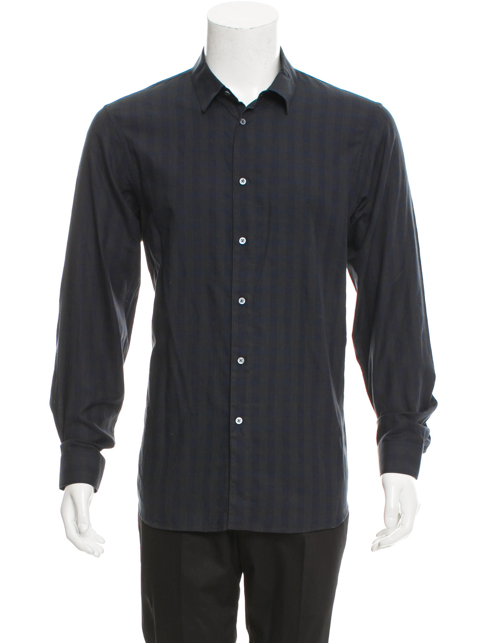 Jil sander check print shirt clothing jil35971 the for Jil sander mens shirt