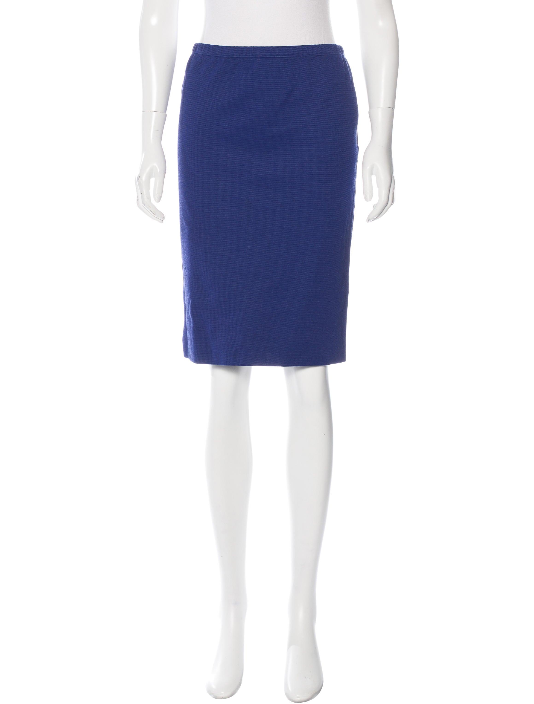 Jil Sander Stretch Knit Pencil Skirt - Clothing - JIL36089 ...