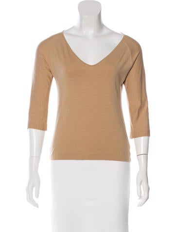 Jil Sander Three-Quarter Sleeve Fitted Top None