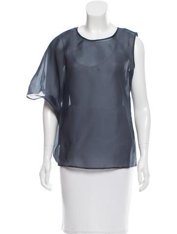 Jil Sander One-Shoulder Silk Top None