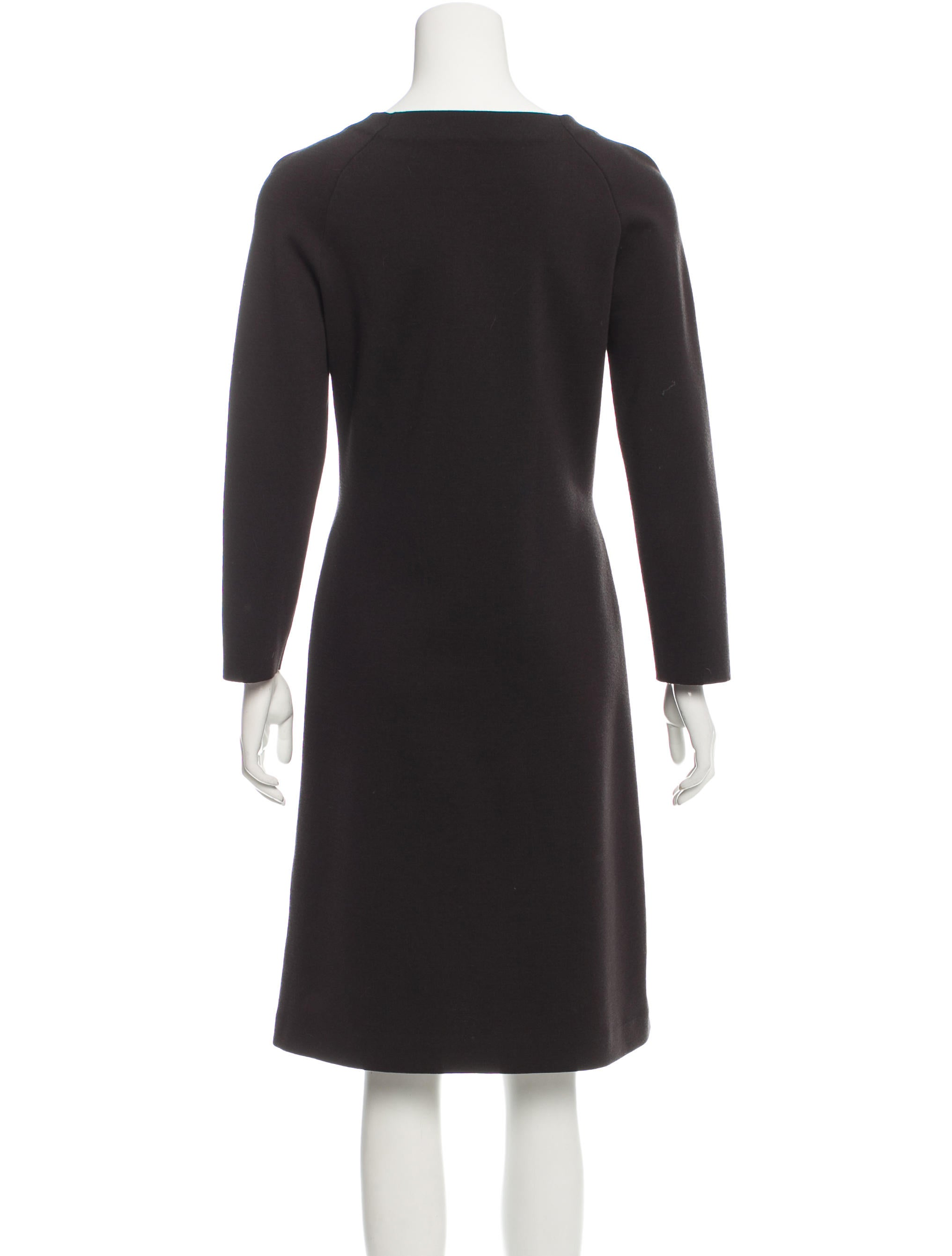 Jil sander three quarter sleeve knee length dress for Three quarter length shirt