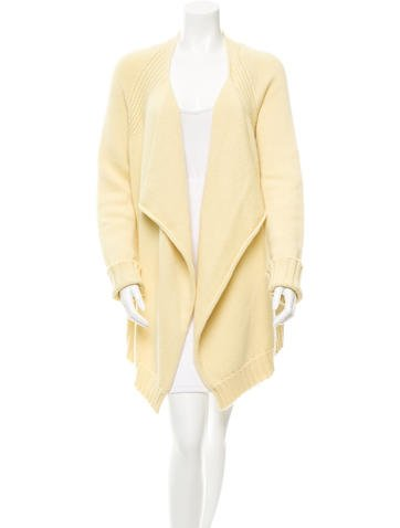 Jil Sander Cashmere Open Front Cardigan w/ Tags None