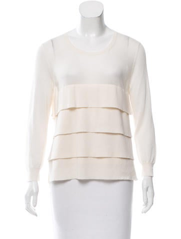 Jil Sander Cashmere Tiered Top None