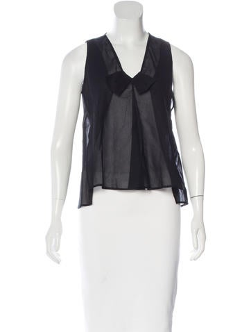 Jil Sander Sheer Sleeveless Top None
