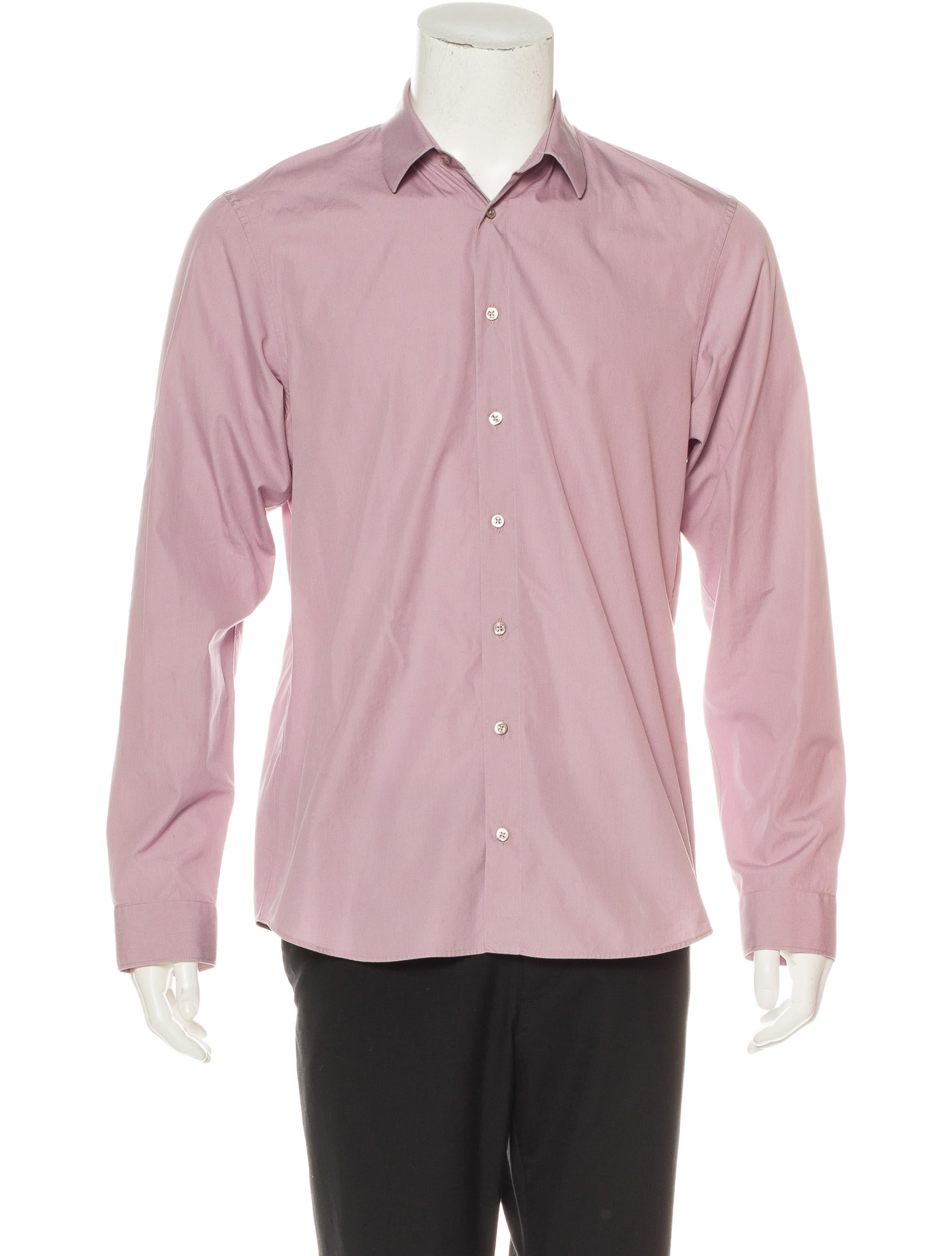 Jil sander woven dress shirt clothing jil36640 the for Jil sander mens shirt