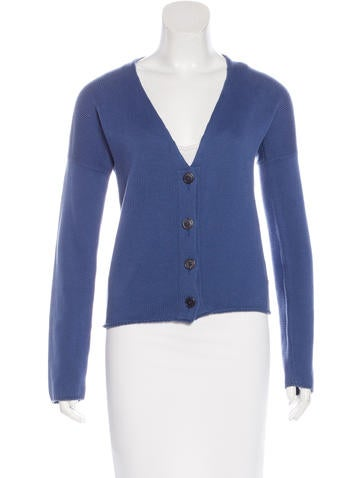 Jil Sander Rib Knit V-Neck Cardigan None