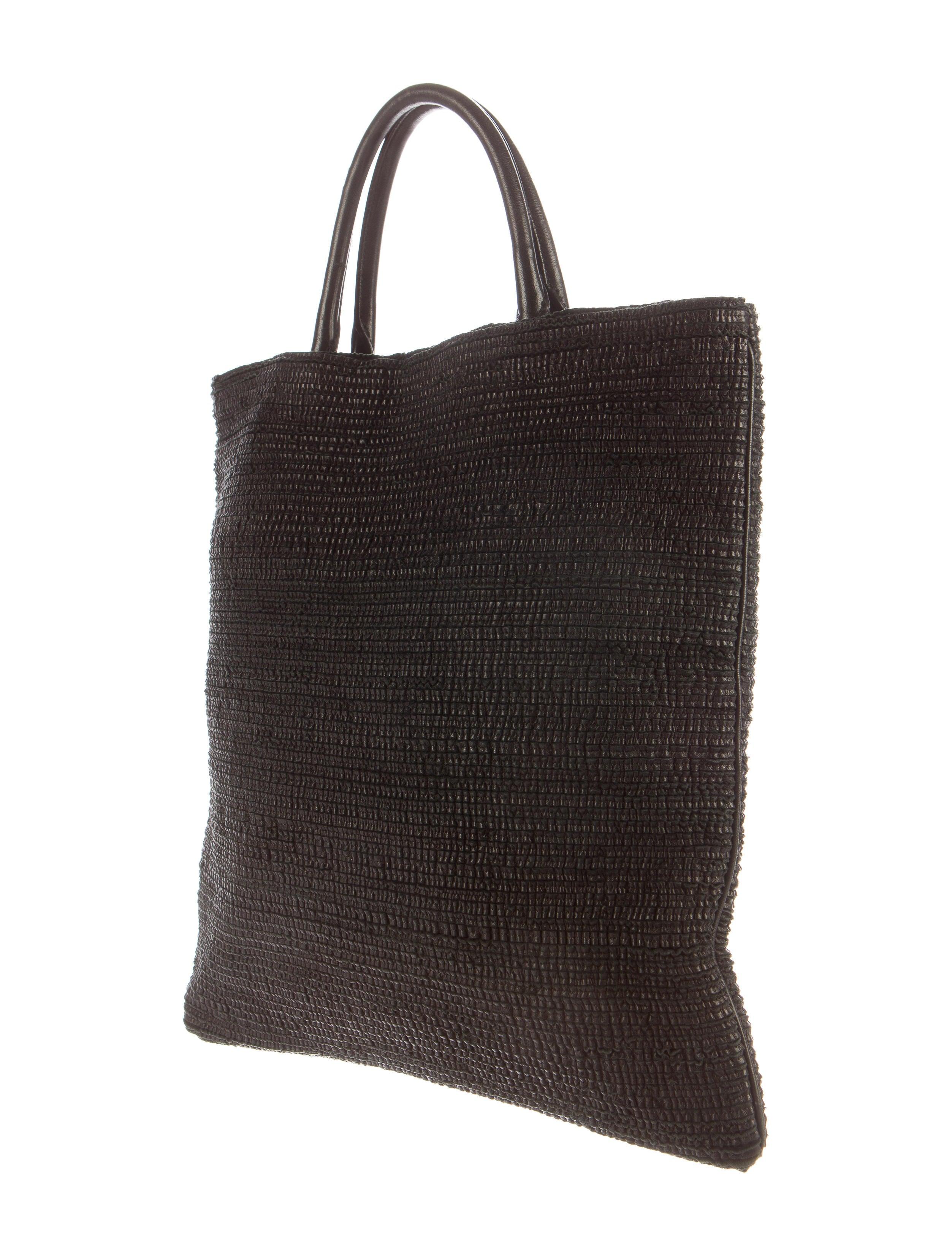 Contemporary Flatware Jil Sander Woven Leather Tote Handbags Jil36663 The