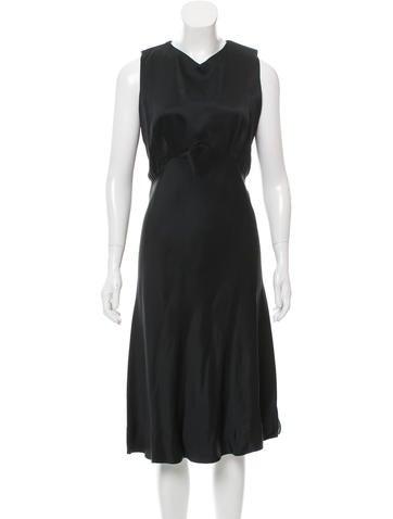 Jil Sander Sleeveless Silk Midi Dress None