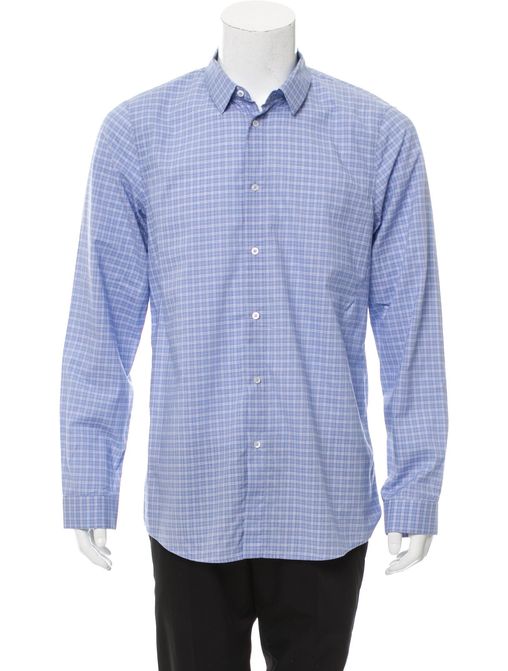 Jil sander plaid button up shirt clothing jil36724 for Jil sander mens shirt