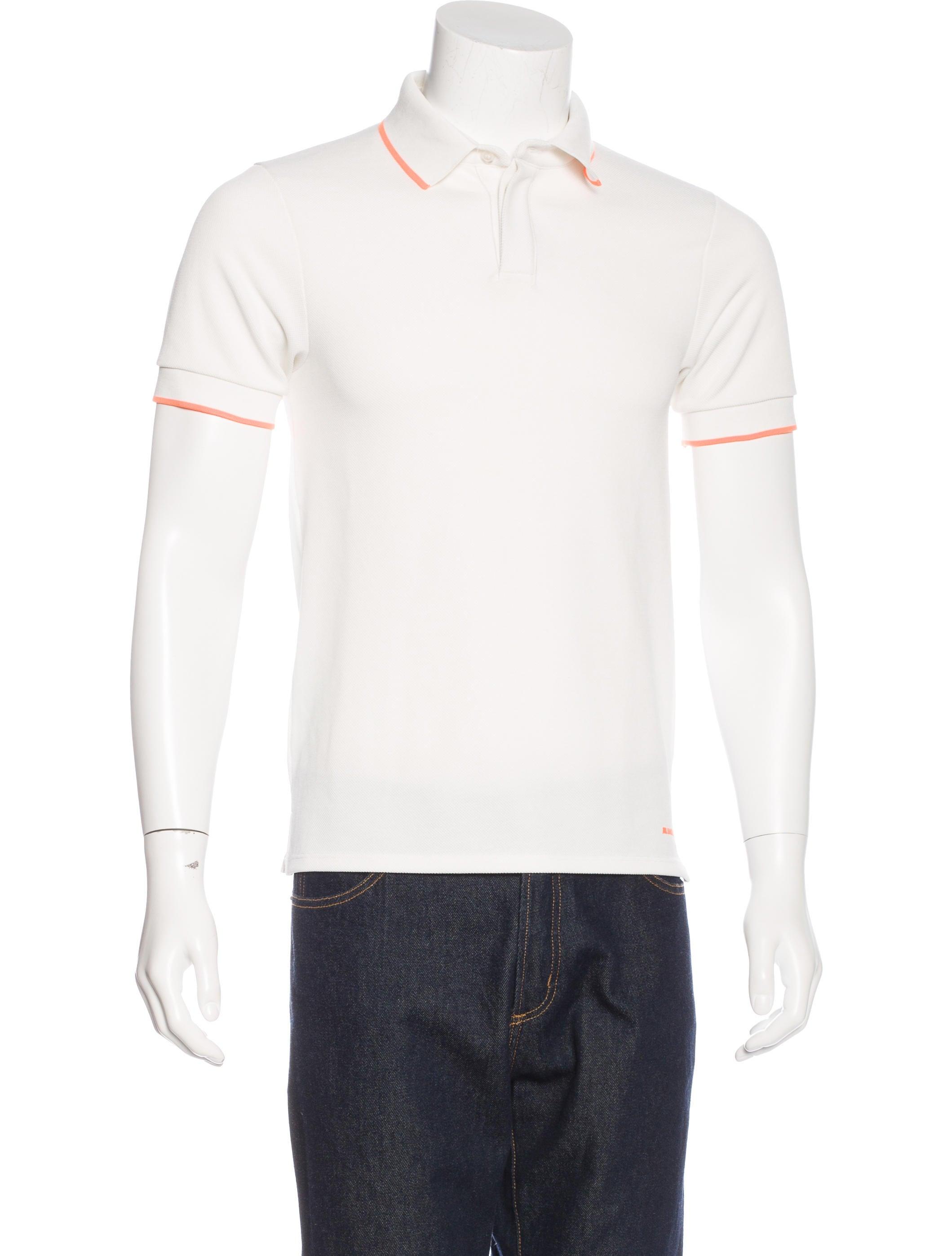 Jil sander piqu polo shirt clothing jil36888 the for Jil sander mens shirt