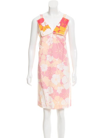 Jil Sander Sleeveless Floral Print Dress None