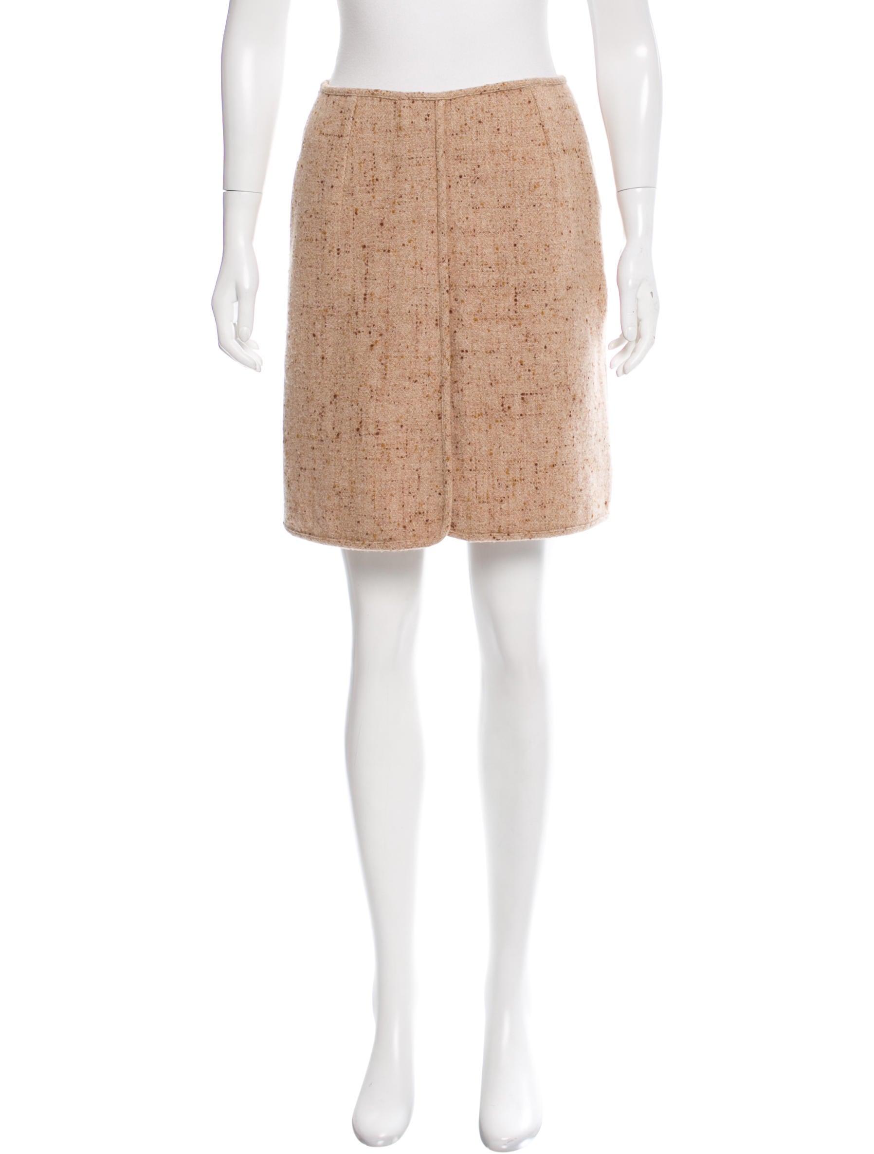 jil sander tweed a line skirt clothing jil36901 the