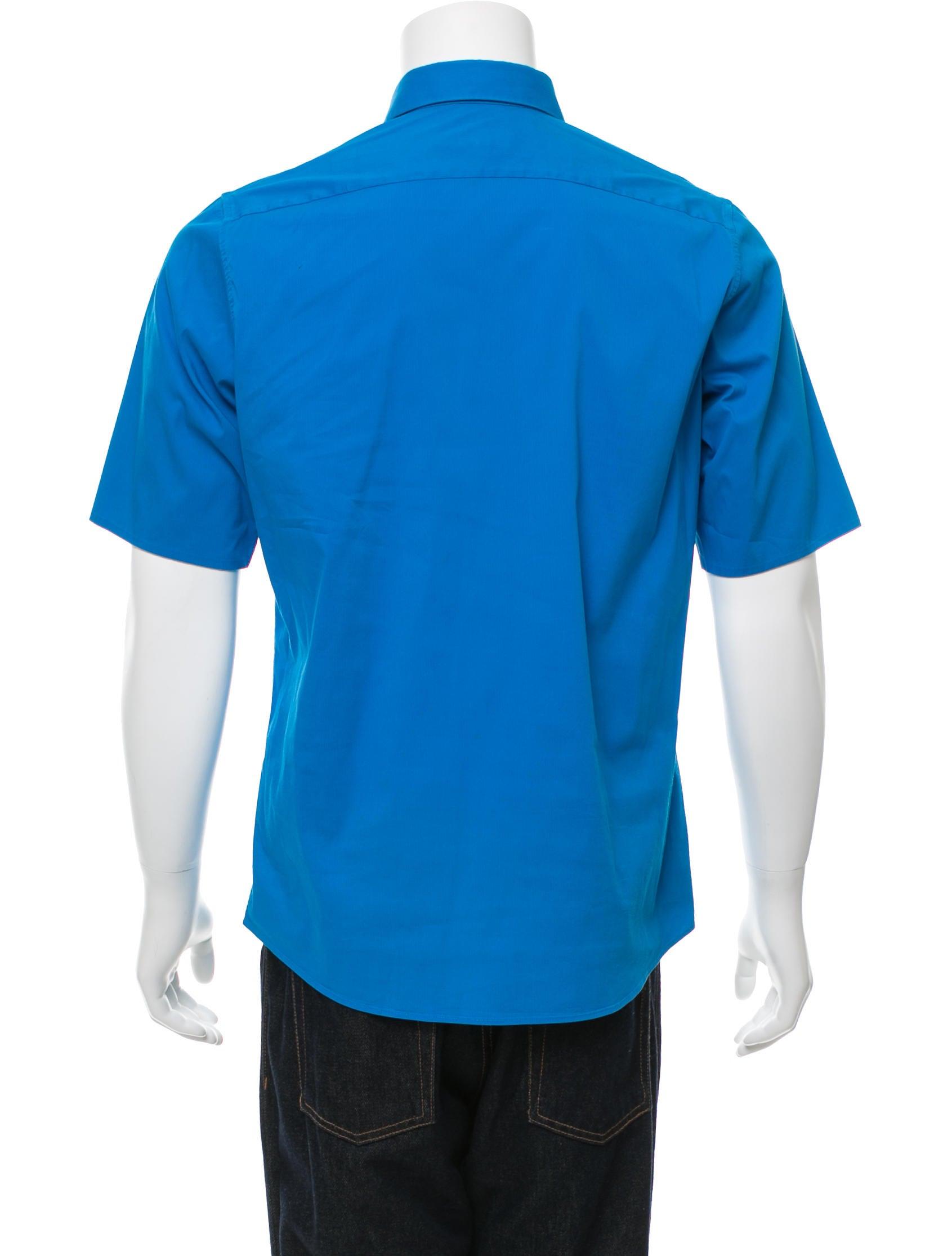 Jil sander woven button up shirt clothing jil36977 for Jil sander mens shirt