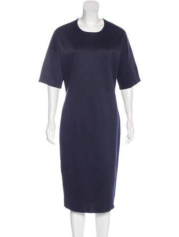 Jil Sander Short Sleeve Midi Dress None